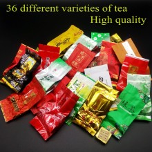 36 different flavors of Chinese pu er tea Dahongpao,Oolong tea,Tieguanyin,Yunnan Puer, white / black / green tea Milk Oolong tea