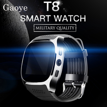 Gaoye T8 Bluetooth Smart Watch With Camera Music Player Facebook SMS Smartwatch Support SIM TF Card For Mobile phone(China)