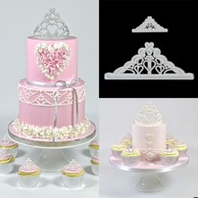 2Pcs/set Sugarcraft Cake Cutter Crown Silicone Tiara Fondant Icing Cutting Die Cake Cookies Tool For Decoration Baking