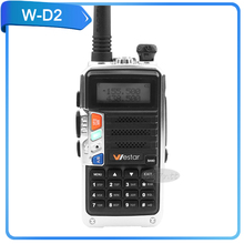 8W high power walkie talkie waster W-D2 two way radio UHF / VHF 136-174/400-520mHz portable FM radio 128 channel WD2 uhf radio