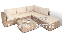 New!Outdoor modern wicker rattan furniture sofa set(China)