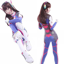 2017 NEW OW game D.VA cosplay costume Halloween costumes for women Adult costume sexy jumpsuit custom made uniform