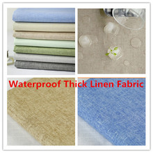 Eco-friendly Coating Laminate Waterproof Curtain Thick Linen Fabric Table Cloth Home Decor Apparel & Fashion