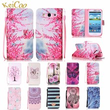 For SAMSUNG Galaxy S3 Neo Duos GT-I9301I Brand Book Flip PU Leather Cases S3Neo+ GT-I9300I GT-I9300RWI Cute Card Holder Covers(China)