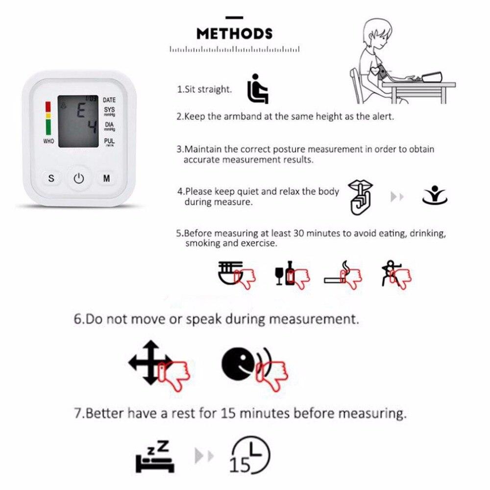 Arm Type Electric Voice Tonometer Meter Health Care 99 Memory Blood Pressure Monitor Pulse Oximeter Household Sphygmomanometer 14