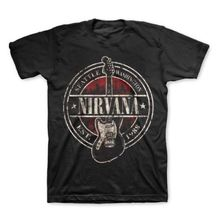 NIRVANA T-Shirt Vintage Est 1988 Guitar Stamp Men's Clothing Music Hip Hop Tee Shirt Cotton Tshirt Euro Size S M L XL XXL XXXL