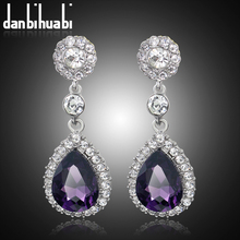 Wedding Indian Jewelry  Fashion High Quality   Rhinestone summer Style Bridal silver Drop Earrings for women