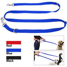 6 Way Multi-functional Nylon Dog Leash Adjustable Lead Hands Free Pet Training Leash Black Red Blue(China)