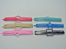 15 Assorted Colourful Metal Flat Hair Pin Clips Barrette Heart Square Star ect(China)