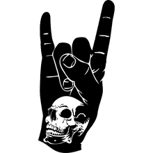 10cm*20cm Skull Hand Rock N Roll Personality Funny Vinyl Decal Car Stickers S6-3259
