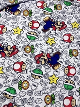 50*180cm Super Mario Bros soft elasticity knitted cotton fabric For Sewing diy Patchwork baby boy shirt jacket