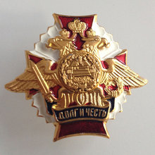 Russian Gold Medals Aluminum Armored Tank Corps Emblem Honor Badge Cockade Gold Original Medals(China)