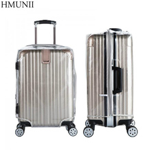 High Quality PVC zipper Transparent Waterproof Suitcase Protective Cover Travel Luggage Trolley Case Thicker Wear Dust Covers(China)