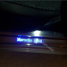 Car Styling for Mercedes W207 W208 coupe accessories led auto door sill protector illuminated door sill scuff plate thresholds