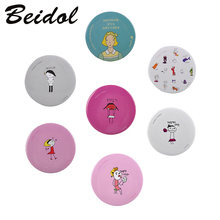 Small Cute Cartoon Pocket Mirror Hand Makeup Compact Mirrors Portable Professional Mini Cosmetics Mini Beauty Make Up Tools(China)