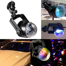 Car Music Sound Activated LED Flash Light Mini RGB LED Crystal Magic Ball Stage Effect Lighting Lamp Party Disco Club DJ Bar