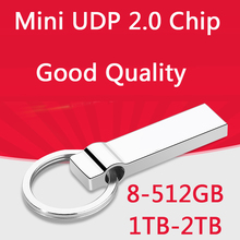 100% H2testw Test Real Capacity Metal Silver Usb Flash Drive 2.0 Pen Drive 64GB 32GB 16GB Memory Stick 512GB Key Chain Gift(China)