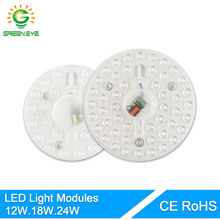 GreenEye LED Modern Ceiling Light 220V 12W 18W 24W Led Panel Light Downlight LED Board Source Replacement Ceiling Lamp Bulb(China)