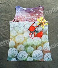 Track Ship+Vintage Vest Tanks Tank Tops Camis I Like Most Child Dream Heaven Happy Red Fox in White Dandelion Dandelions 0304(Hong Kong)