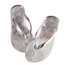 Buy 2017 New Fashion Bling Summer Slipper Women's Sandals Open Toe Cool Beach Shoes Woman Sparkling Crystal Flip Flops Jelly Sandals for $6.88 in AliExpress store