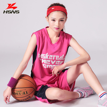 New Custom Womens Basketball Set Jersey Shorts Girl Football Sportwear Basketball Training Suit Quick Dry Print LOGO Number Name