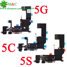 10pcs Good 5C 5S 5G Charger Charging port Dock USB Connector Flex For iphone 5 5G 5C 5S Charging Charger Flex Cable Tracking
