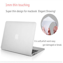 2015 Flexible laptop Case Semi-Transparent case Protector For Mac Book Pro Retina 13.3 15.4 For Macbook Pro Retina 13 15 2014(China)