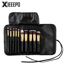 Casual Women Travel Cosmetic Bag PU Leather Professional Makeup Kit Bag Organizer Holder Make Up Pouch Toiletry Wash Brush Bag