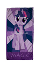 Free Shipping Anime Manga My Little Pony Rainbow Horse  Face Towels 30x70cm Hand Towel 003