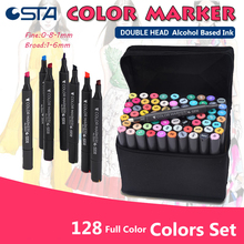 STA 24/36/48/60/72 Colors Markers Touch alcohol ink Dual Marker Set graffiti copic markers Art supplies Designer Painting
