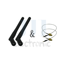 2015 Hot selling 2pcs 2dBi WiFi RP-SMA 2.4GHz Antennas + 2pcs 12in U.fl for Linksys E2000 Wireless Routers