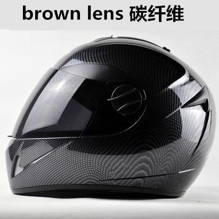 Motorcycle Full Face Helmet Men Capacetes Professional Racing Helmet carbon fiber double lens Casco Motocicleta<br><br>Aliexpress