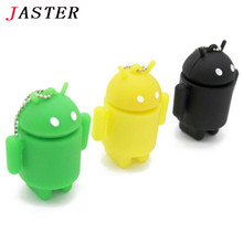 JASTER Mini Android Robot Usb Flash Drive pendrive 4GB 8GB 16GB 32GB iRobot Ava Lovely Gift  Full Capacity cartoon memory stick