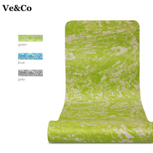 Ve&CO 183x61cmx 6mm Yoga Mat TPE 3 Colors Exercise Mat Thick Non-slip Folding Gym Fitness Mat 2017 Non-skid Floor Playing Pad(China)