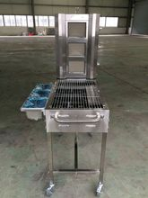 NEW design trolley bbq grill,hand-multifuction sharwarma machine &BBQ machine (including grill and pan)(China)
