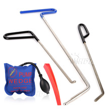 WHDZ 3PCS PDR Rods Hook Wedge for Door Dings Hail Repair and Dent Removal (B7+C5+C6) with Dent Repair pump wedge