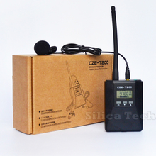 CZE-T200 0.2W Portable FM Transmitter radio broadcast Stereo/Mono Power adjustable for Meeting/Tourism/Church/School