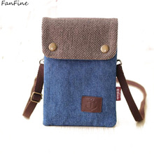 FanFine Hot Casual Woman Messenger Bag Female Multifunctional Canvas Mini Shoulder Crossbody Bag Purse Sac Femme kids bags(China)
