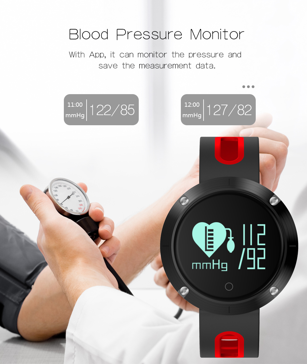 Waterproof Sports Bracelet DM58 Smart Band Heart Rate Blood Pressure Watch Smart Wristband Fitness Tracker for IOS Android C1 8