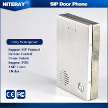 Home intercom ip system / door control access intercom phone with waterproof design(China)
