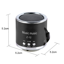 2017 hot Z-12 Portable Speaker FM Radio USB Micro SD Music Box Mp3 TF Card Mini Speaker Subwoofer Laptop Speaker(China)
