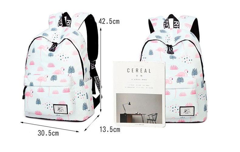 WINNER Fashion Backpack Flamingos Cute School Bags For Adolescent Girls Travel Rucksacks Laptop Mochilas Mujer 2018 (12)