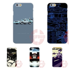DeLorean Time Machine Soft TPU Silicon Custom Phone For iPhone 4S 5S SE 6S 7S Plus For Galaxy A3 A5 J3 J5 J7 S4 S5 S6 S7 2016