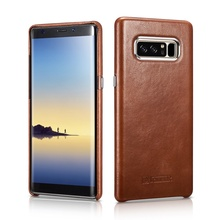 ICARER For Samsung Galaxy Note 8 Case Vintage Genuine Leather Coated PC Mobile Casing for Samsung Galaxy Note 8 SM-N950 - 6.3 ''