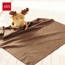 Candice guo plush toy stuffed doll cartoon reindeer pillow elk cushion deer air-condition warm blanket baby birthday gift 1pc