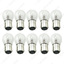 10pcs 1157 BA15D P21/5W S25 12V Car Clear Glass Lamp Brake Tail Bulb Car Indicator Halogen Lamp  #CA2722