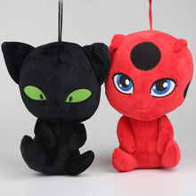 20cm NEW Arrival Miraculous Ladybug and Cat Noir Peluche Toys Lady Bug Plagg Tikki Soft Stuffed Dolls toy for kids(China)