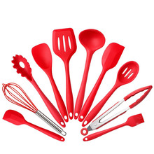 10Pce/set Silicone Kitchen Cooking Utensils Heat Resistant Baking Tools