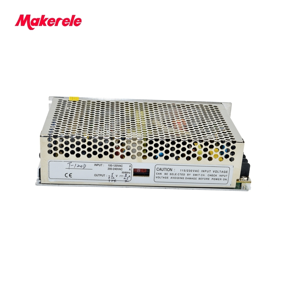 customized model triple output type T-120D 5V 12V 24V SMPS 8A 2.5A 2A triple output dc constant power supply<br>