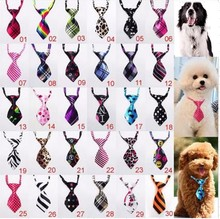 60pc/lot Big Sale puppy Dog Doggie Cat Pet Lovely Adorable sweetie Grooming Tie Necktie Clothing Products 3 pattern choice(China)